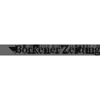 Borkener Zeitung Logo grau