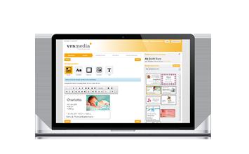 ScreenLaptop vrs.AdBooker, VRS Media Anzeigenkonfigurator, VRSMedia ad configurator