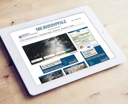 Newsbild Screen Trauerportal Die Rheinpfalz