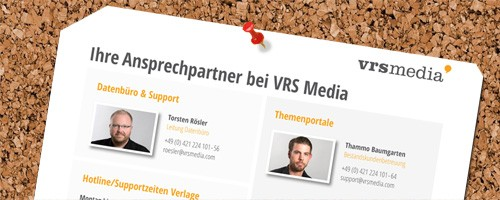 Newsbild VRS Media Ansprechpartner Support