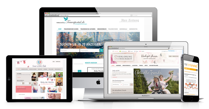vrs.FamilyMarkets, VRS Media themed portals, Themenportal-Loesungen, logiciel-pour-journaux