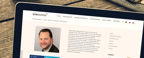 Newsbild Andree Wehrs neuer Vertriebsleiter bei VRS Media
