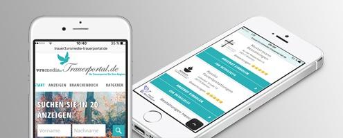 Newsbild mobile Version von VRS Media Trauerportal