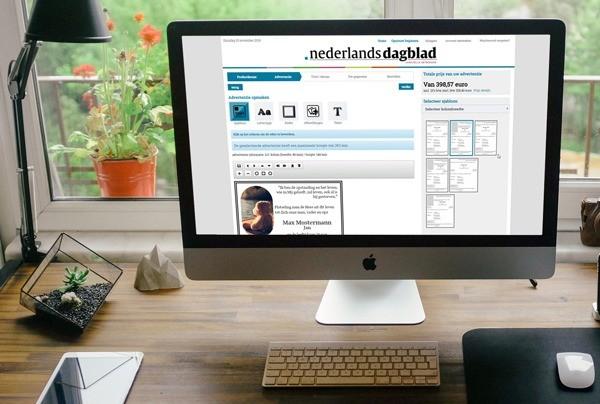 AdBooker Launch Nederlands Dagblad MockUp